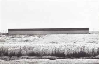 Lewis Baltz-East Wall, Western Carpet Mills, 1231 Warner, Tustin, from 'Industrial Parks'-1974