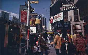 Joel Meyerowitz-Broadway and 46th Street, New York City-1976