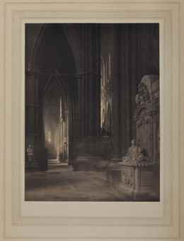 Frederick H. Evans-Westminster Abbey, South Ambulatory into Choir and Nave Aisle-1911
