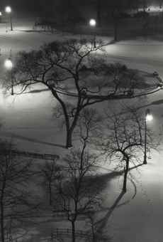 Andre Kertesz-Washington Square at night-1954