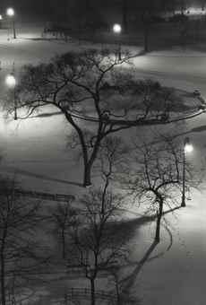 Washington Square at night-1954