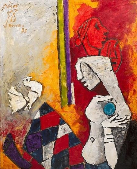 Maqbool Fida Husain-War and Peace-1975