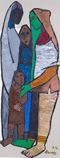 Maqbool Fida Husain-Khatna-1956
