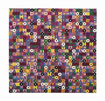 Alighiero Boetti-Senza titolo (tra l'incudine e il martello) (Untitled - between the anvil and the hammer)-1988