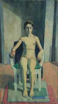 Felice Casorati-Ragazza nuda (Naked girl)-1937