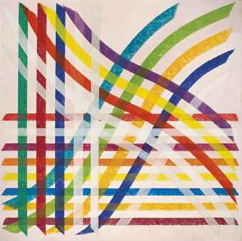 Piero Dorazio-Allaccio A (A connection)-1966