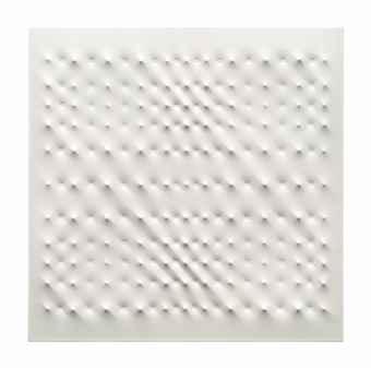 Enrico Castellani-Superficie bianca (White surface)-2006