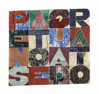 Alighiero Boetti-Pensato e quadrato (Thought and squared)-1991