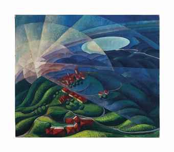 Gerardo Dottori-Aurora Volando n. 2 (Flying dawn)-