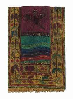 Aldo Mondino-Tappeti stesi (Hung out carpets)-1988