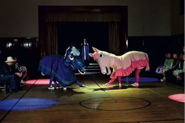 Mike Kelley, Extracurricular Activity Projective Reconstruction #32 (Horse Dance of the False Virgin), choreography: Kate Foley, 2004-2005, from Day Is Done, 2005.