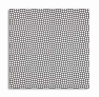 Francois Morellet-2 Trames de Tiret 0° 90° (Two Warps and Wefts of Short Lines 0°-90°)-1972