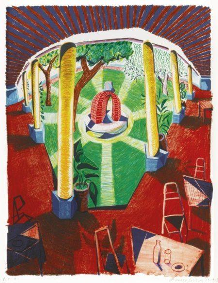 David Hockney-Views Of Hotel Well III (Tyler 282:Dh 69)-1985