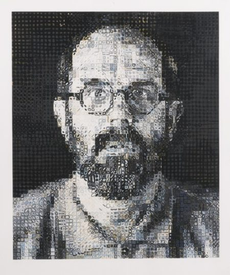 Chuck Close-Self-Portrait-1995