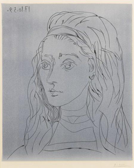 Pablo Picasso-Portrait De Jacqueline (B. 923; Ba. 1245)-1959