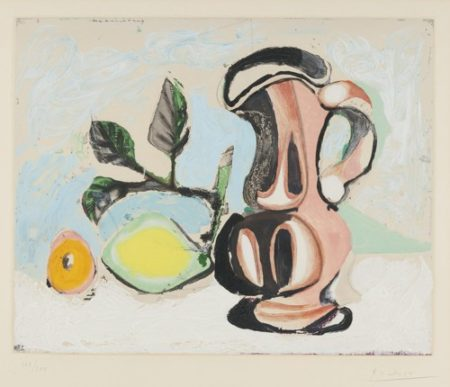 Pablo Picasso-After Pablo Picasso - Still Life With Pitcher And Lemon-1955