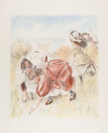 Pierre-Auguste Renoir-Enfants Jouant A La Balle (Delteil, Stella 32)-1900