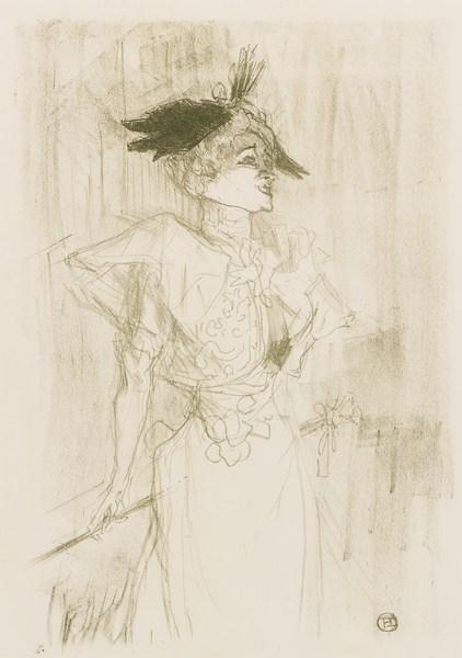 Henri de Toulouse-Lautrec-Mademoiselle Marcelle Lender, Debout (D. 103; Adr. 116; W. 101)-1895