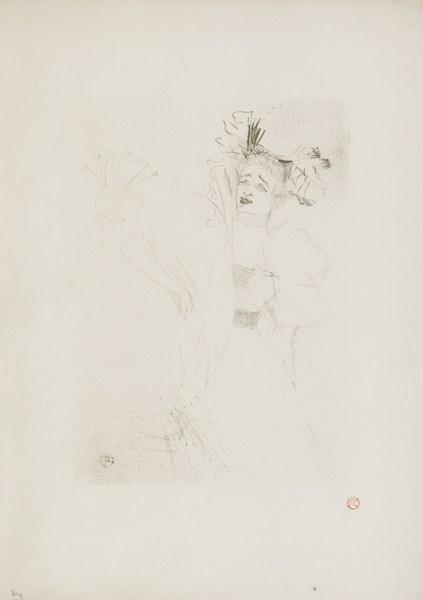 Henri de Toulouse-Lautrec-Lender De Face, Dans Chilperic (D. 105; A. 113; W. 104)-1895