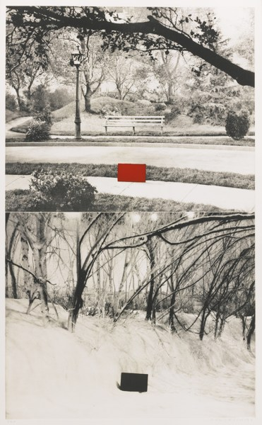 John Baldessari-Two Sets (One With Bench) (Hurowitz 49)-1990