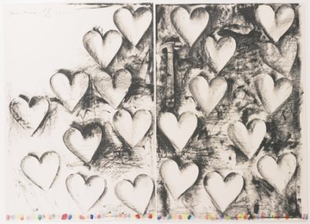 Jim Dine-The Hammer (With Watercolor Marks) (D'Oench/Feinberg 137)-1982