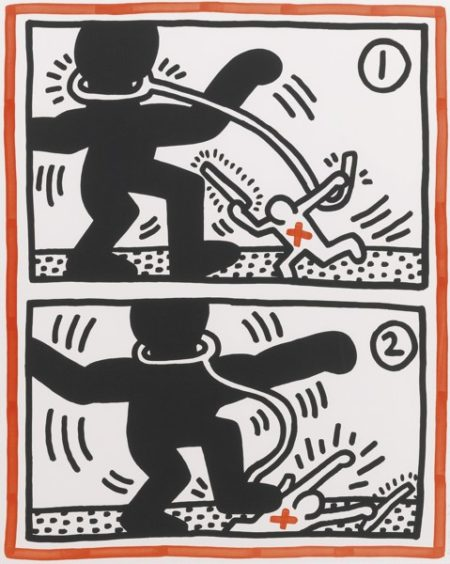 Keith Haring-Untitled #3 (Littmann Page 43)-1985