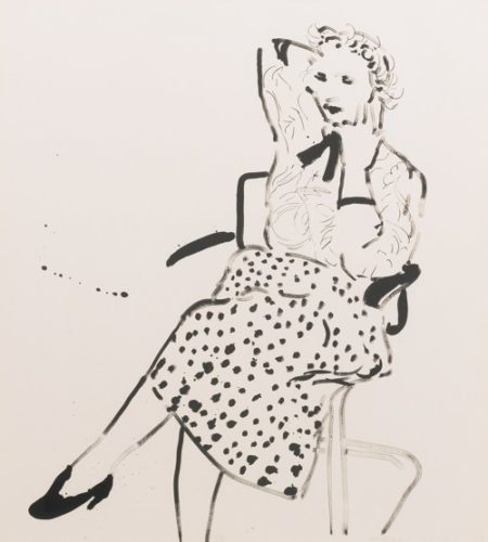 David Hockney-Celia In A Polka Dot Skirt (Gemini 23.66)-1980