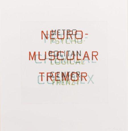 Ed Ruscha-Metro, Petro, Neuro, Psycho (W.A.C. 127)-1982