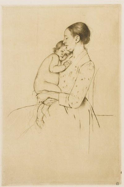 Mary Cassatt-Quietude (B. 139)-1891