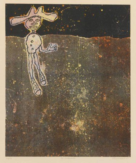 Jean Dubuffet-Le Noctambule (Webel 807; Loreau XVI, P. 221)-1961