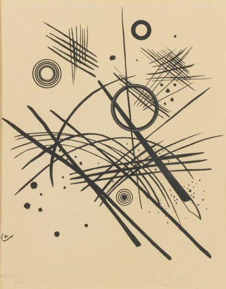 Wassily Kandinsky-Schwarze Linien (Roethal 184)-1924
