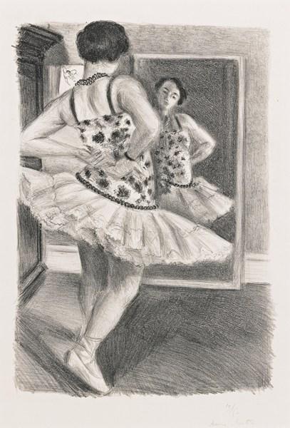 Henri Matisse-Danseuse Refletee Dans La Glace (D. 490)-1927