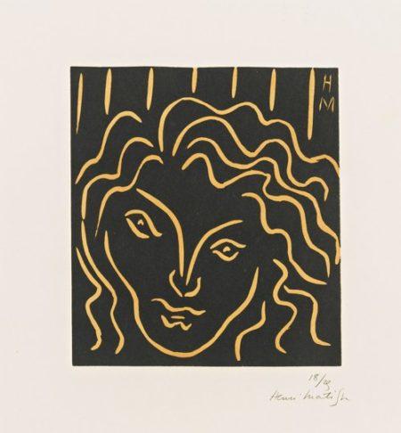 Henri Matisse-Tete De Femme En Mascaron (D. 702)-1938