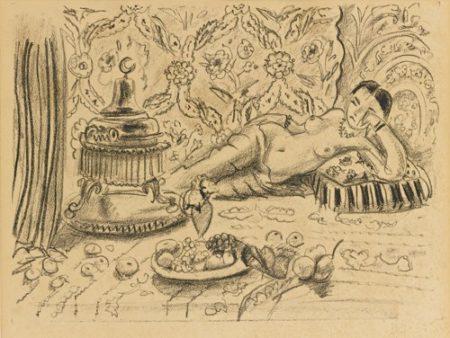Henri Matisse-Odalisque, Brasero Et Coupe De Fruits (D. 504)-1929