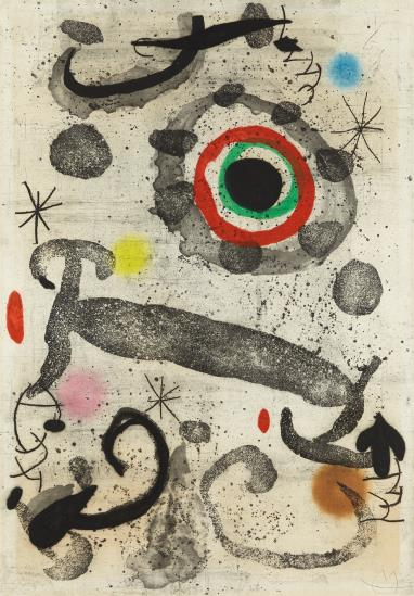 Joan Miro-L'Astre Du Marecage (The Star Of The Swamp)-1967