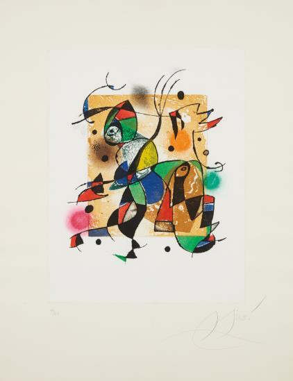 Joan Miro-Gaudi Xvi-1979