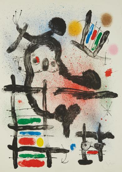 Joan Miro-The Slingshot Bird-1965