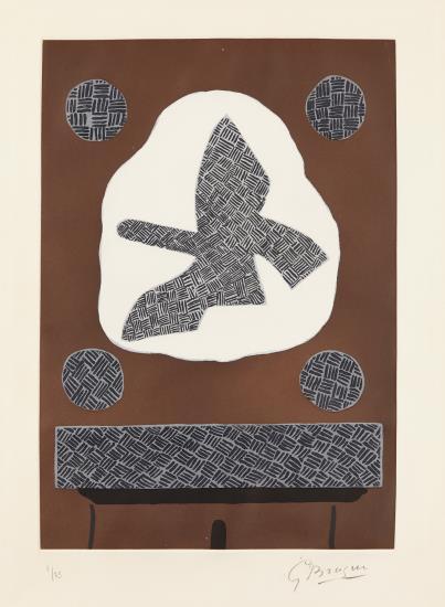 Georges Braque-Oiseau De Passage-1961