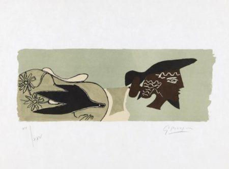 Georges Braque-Cinq Poesies En Hommage A Georges Braque-1958