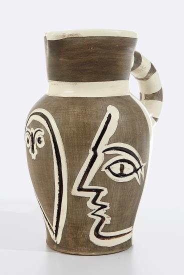 Pablo Picasso-Pichet Grave Gris (Grey Engraved Pitcher)-1954