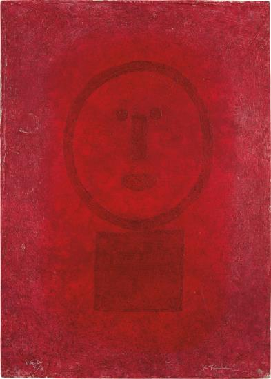 Rufino Tamayo-Cara En Rojo (Face In Red)-1977
