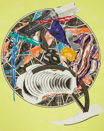 Frank Stella-Whale As A Dish, From The Waves Series-1989