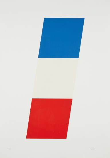 Ellsworth Kelly-Blue/White/Red-1971
