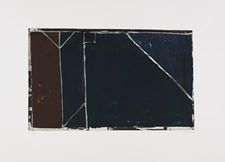 Richard Diebenkorn-Folsom Street Variations I (Black)-1986