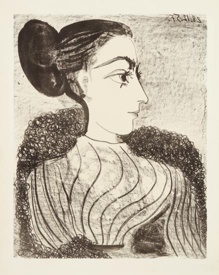 Pablo Picasso-Femme Au Chignon (Woman With Chignon)-1957