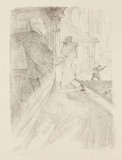 Henri de Toulouse-Lautrec-La Loge - Faust-1896