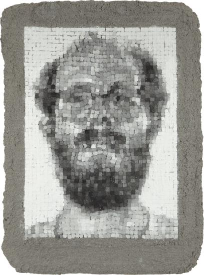 Chuck Close-Self-Portrait Manipulated-1982