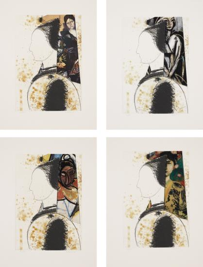 Manolo Valdes-Beatrice: Four Prints-2002