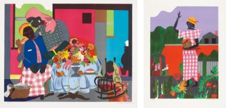Romare Bearden-Girl In The Garden; And Morning-1979