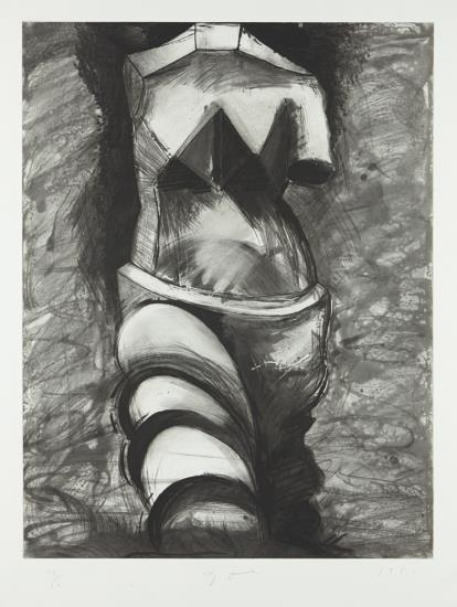 Jim Dine-Black And White Cubist Venus-1985